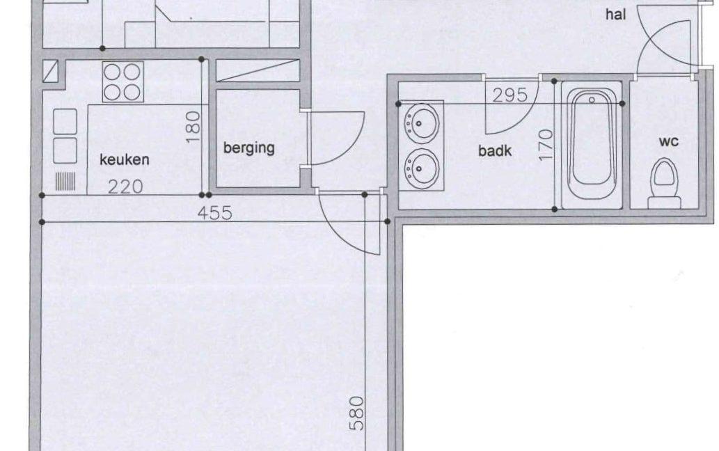 louise plan app C1 2de verdiep - opgelet - bad werd douche!-1
